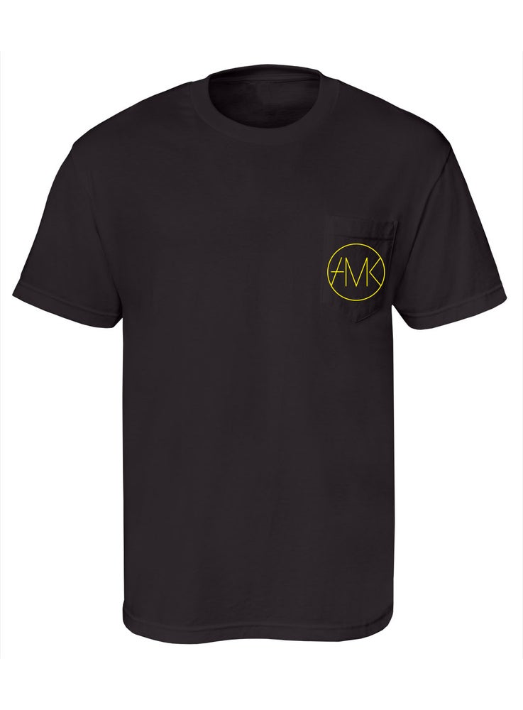 Image of ON SIGHT POCKET TEE / BLACK & GOLD