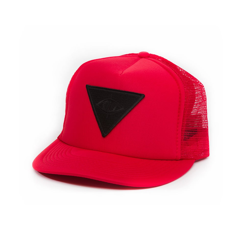 Image of THIRD EYE MESH SNAPBACK [ red ]