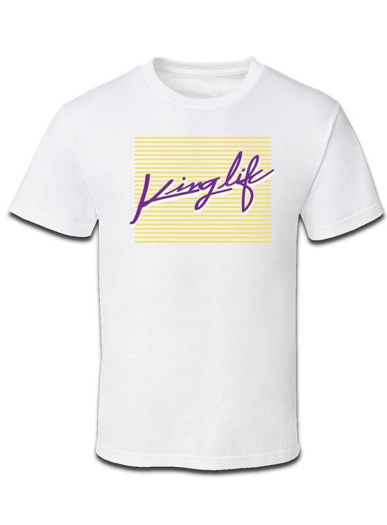 Image of KINGLIFE TEE / PURPLE & YELLOW