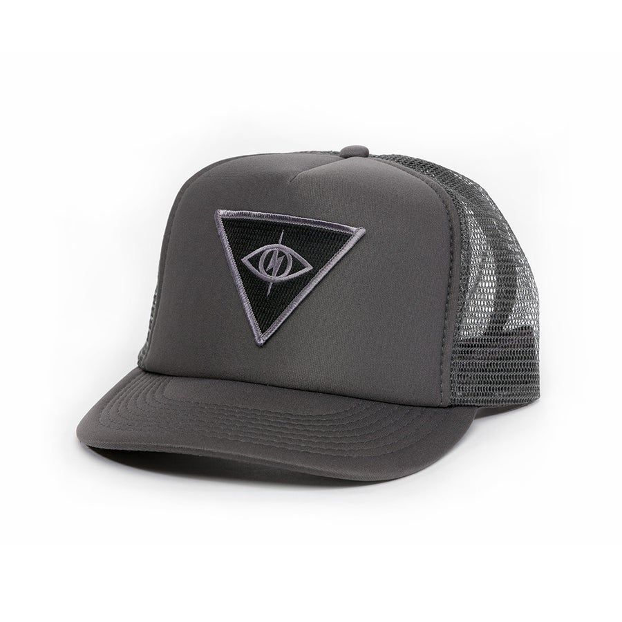 Image of THIRD EYE MESH SNAPBACK [ grey/blk ]