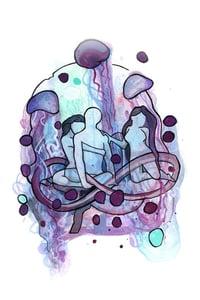 "Image of Original Art ""Jellyfishing a Threesome"" 2014"