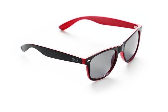Image of AMK WAYFARER SUNGLASSES / RED & BLACK