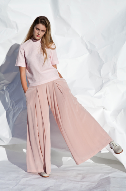 Image of Silk culotte pants