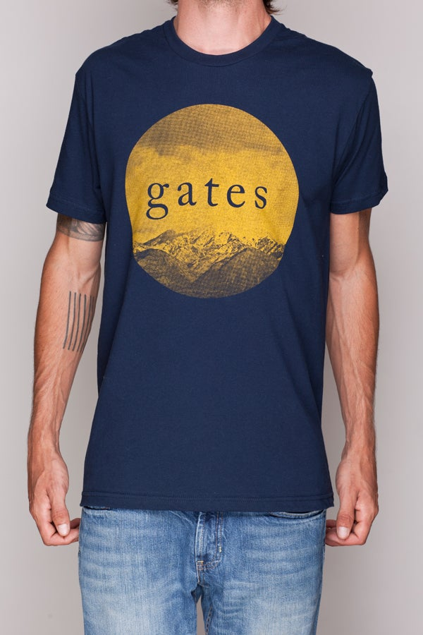 Image of Navy 'Golden Mountain' Shirt