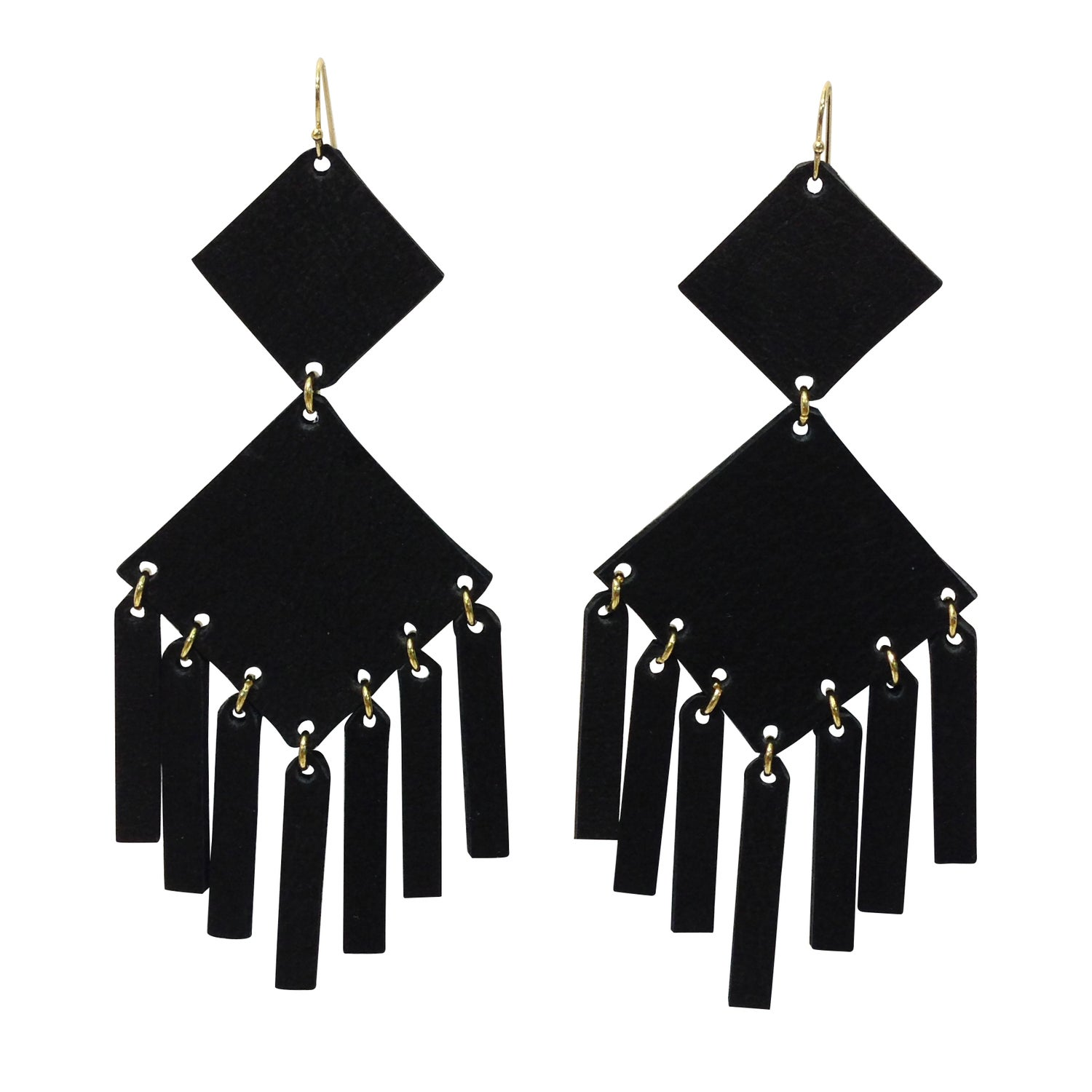 and gold clear also in charcoal matte lucite pin earrings