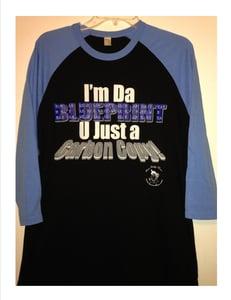 Image of I'M DA BLUE PRINT-RAGLAN STYLE (BASEBALL JERSEY) T-SHIRT