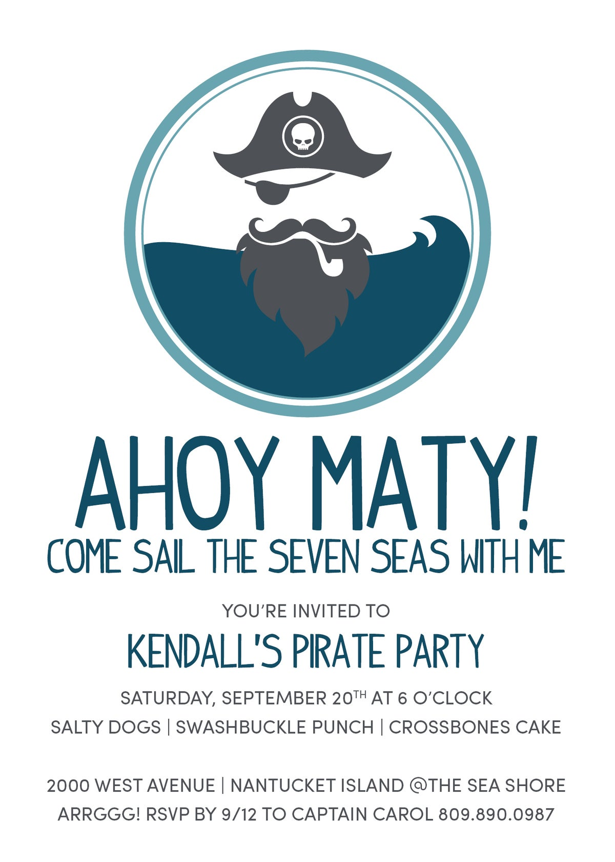 Ahoy Matey Pirate Party