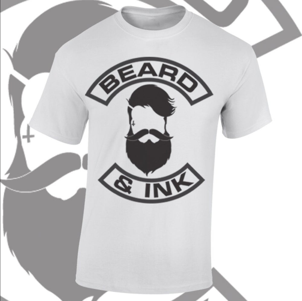 Image of Beard & Ink Front Logo Tee.