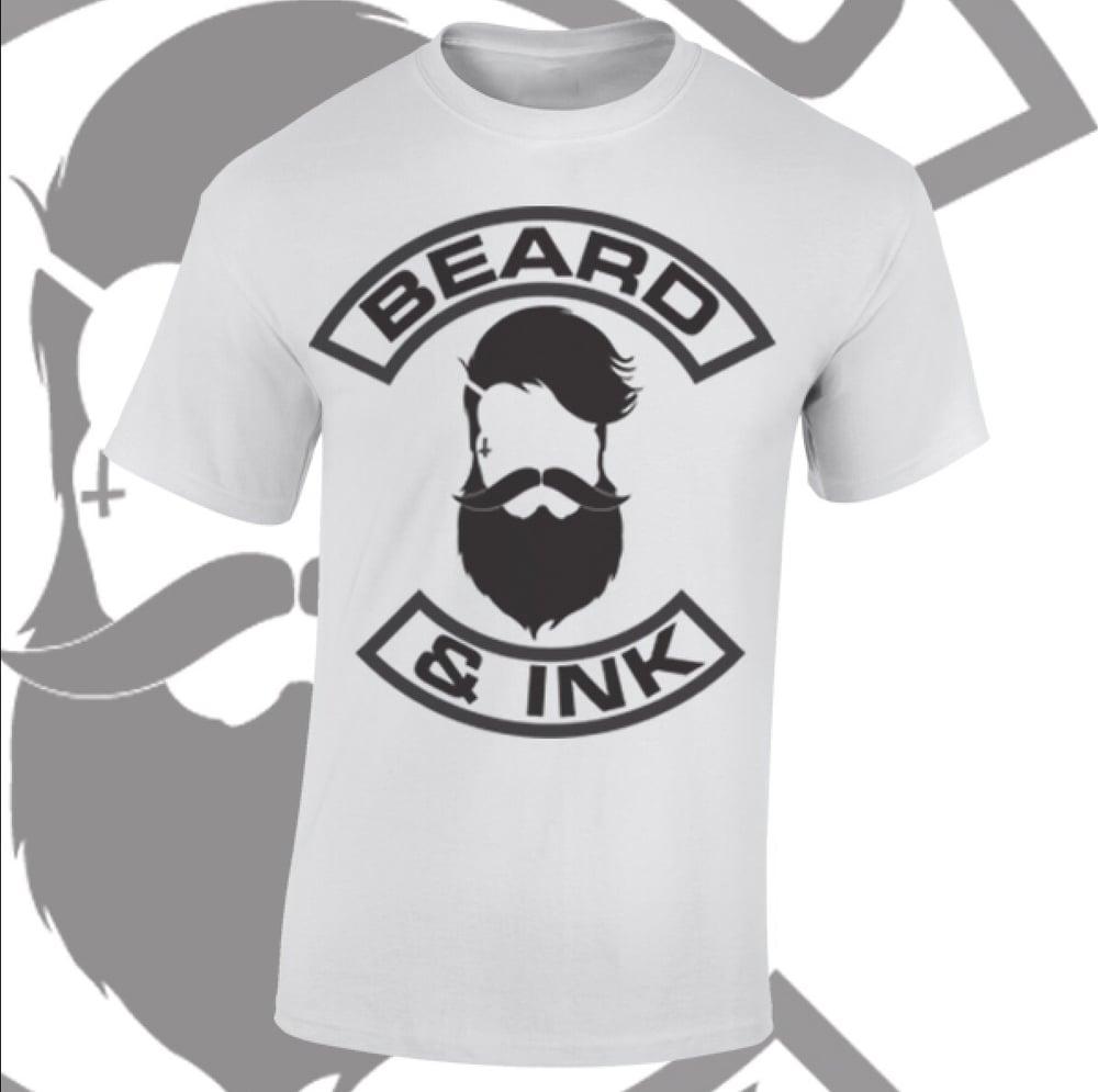 Image of Beard & Ink Front Logo Tee.