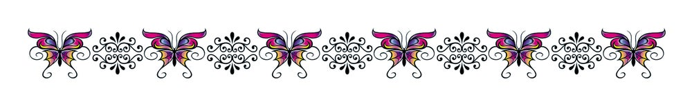 Image of Butterfly Belly: 6 Inch Sweetly Colorful Belly Adornment