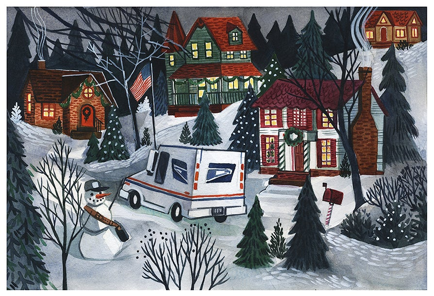 Image of Holiday Lane Postcard—Pack of 75