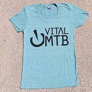 Image of Vital MTB Women's Stack T-Shirt, Tri-Lemon