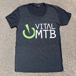 Image of Vital MTB Women's Stack T-Shirt, Heather Black