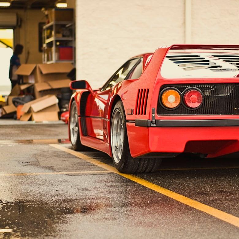 "Image of Ferrari F40 20"" x 20"" print"