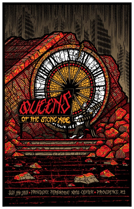 Image of QOTSA • '14 Providence Screen Print