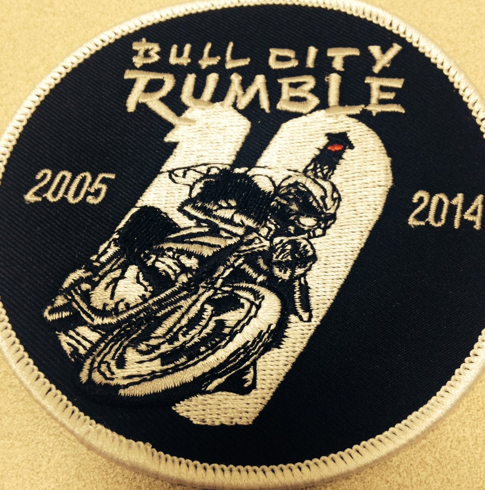 Image of Bull City Rumble 10 Rally Patch (FREE SHIPPING USA)