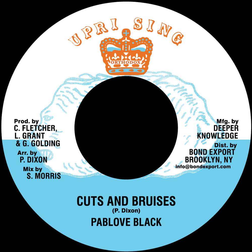 "Image of Pablove Black - Cuts and Bruises 7"" (Uprising)"