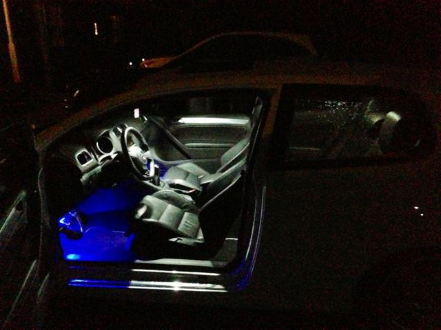 Image of Remote Controlled Color Changing Footwells - Plug And Play LED Bulbs[194/921] fits: MK6 GTI
