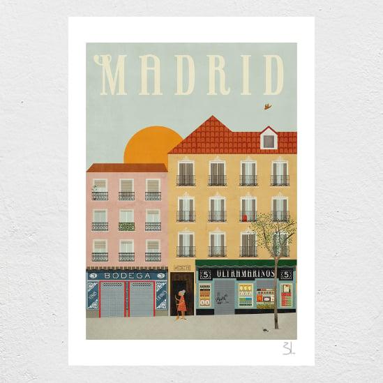 Image of Madrid Print