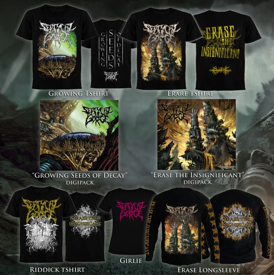 Image of First albums' Merchandise and Packages