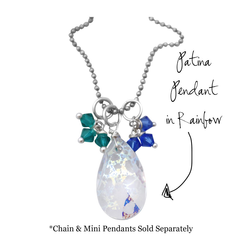 Image of Pear Layered Sparkle Pendant