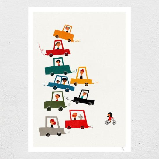Image of Traffic Jam Print