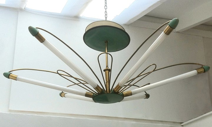 Image of Large Fluorescent Chandelier