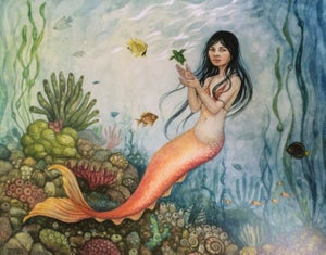 "Image of ""Mama Mermaid"" by Cynthia Thornton PRINT"