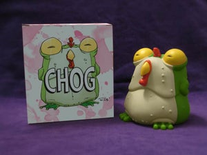 Image of CHEW: Limited Edition Green vinyl Chog - BACKROOM FIND!