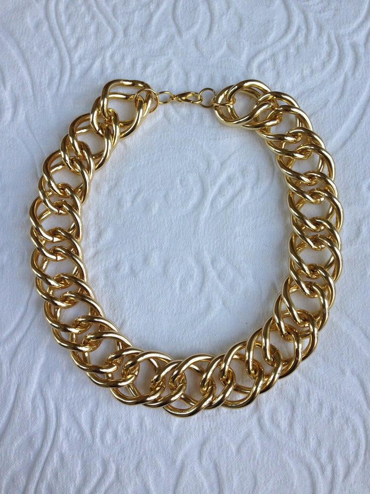 Image of Gold chunk link necklace