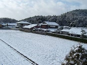 Image of Snowy rice field in Iwakura card