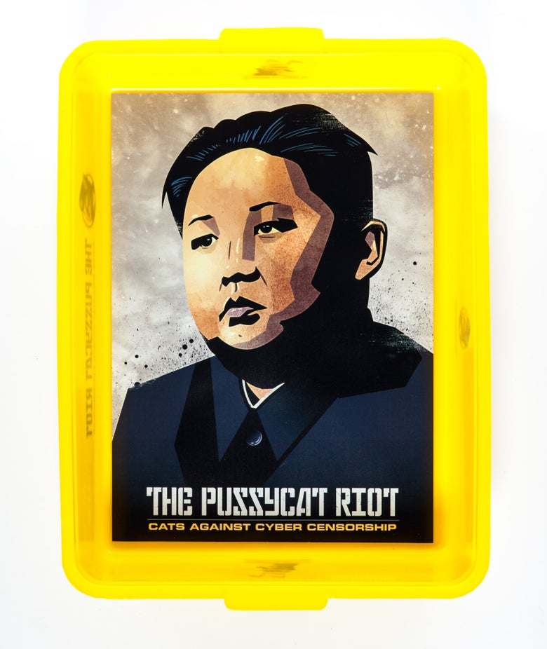 Image of Kim Jong Un Protest Cat Litter Tray