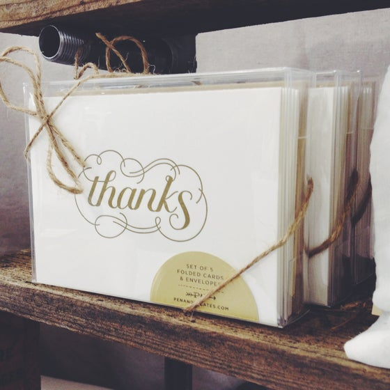 Image of Thanks Card Set