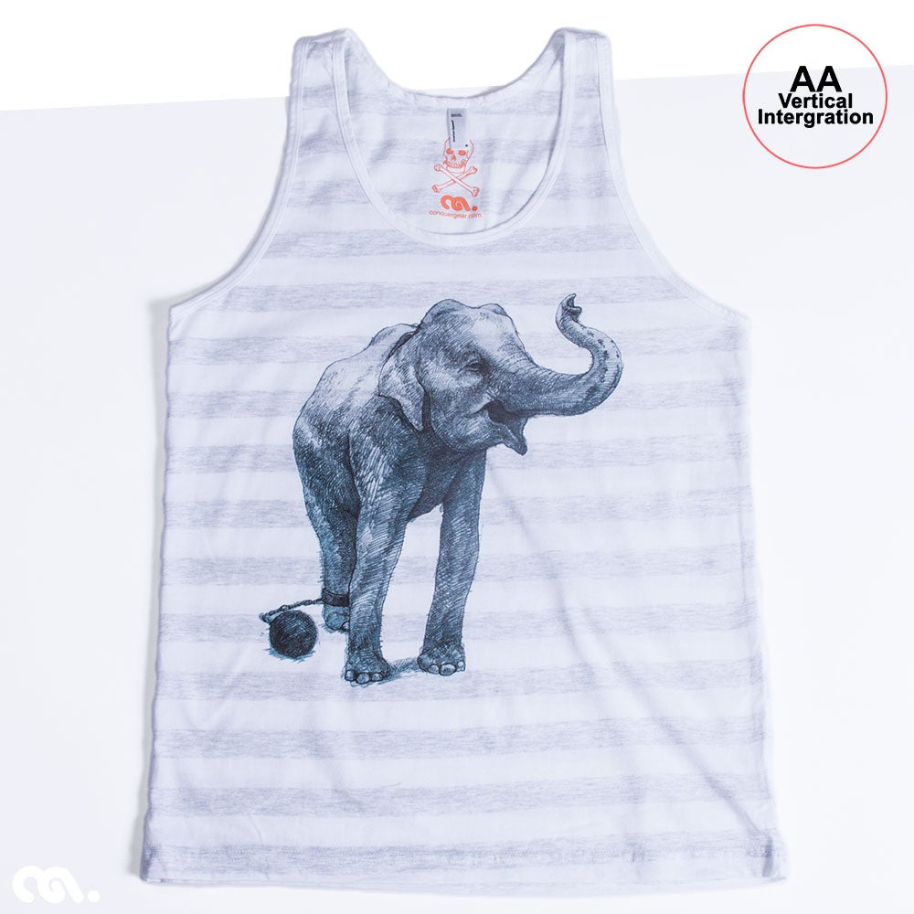 Elephant Unisex Ash Stripe Tank