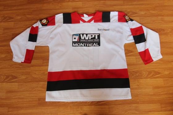 "Image of ""rare"" hockey  world poker tour jersey"