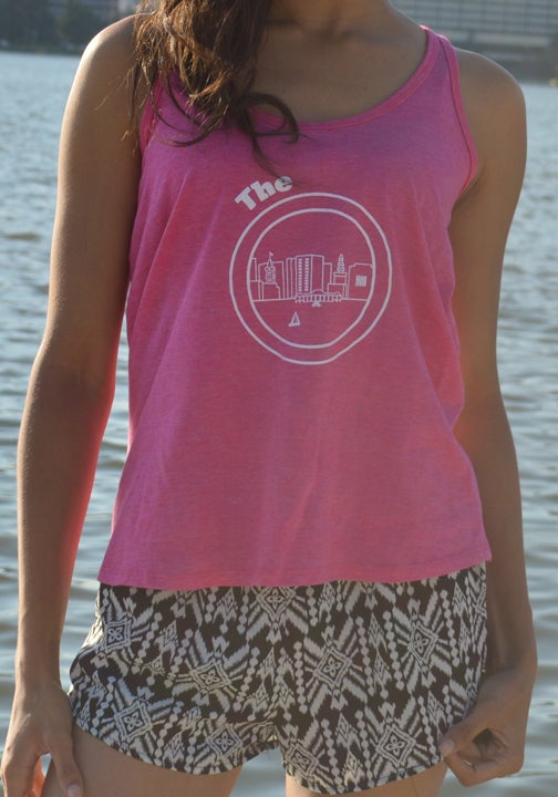 Image of Pink & White Cross Top