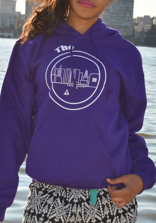 Image of Purple & White Hoodie