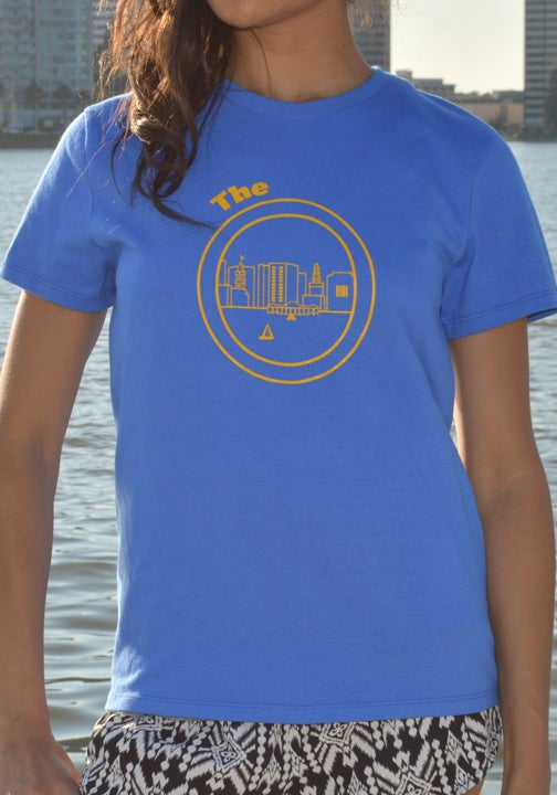 Image of Royal Blue and Yellow Women tee