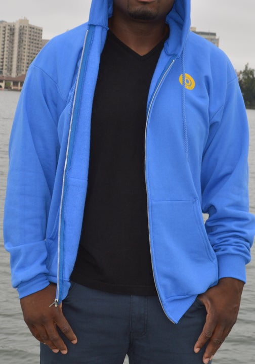 Image of Royal Blue and Yellow Zipper Hoodie