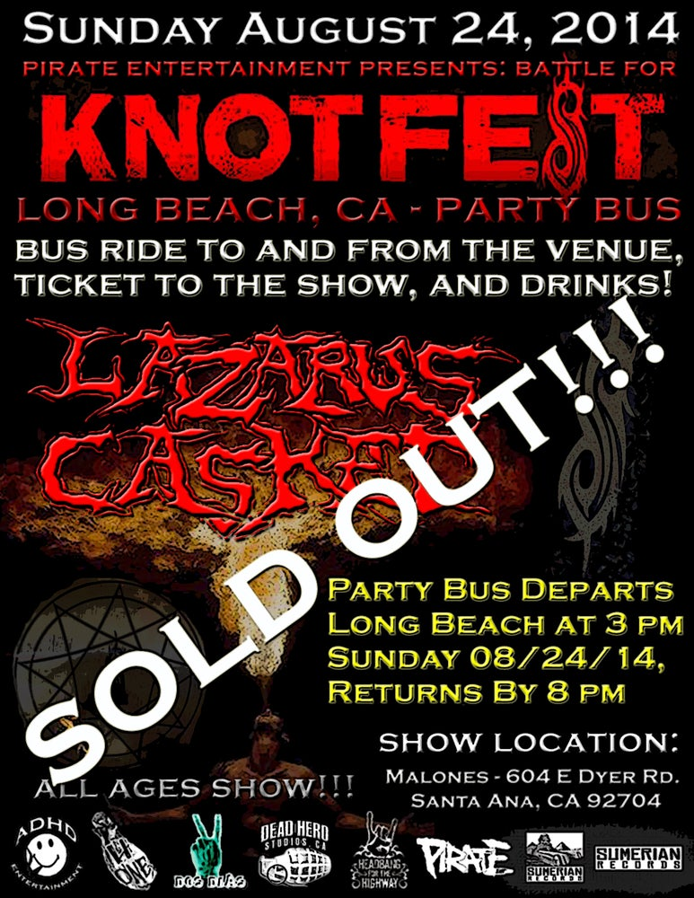 Image of Lazarus Casket BATTLE FOR KNOTFEST Party Bus!