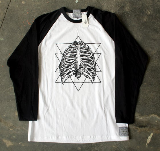 Image of CAGED IN L/S BASEBALL T-SHIRT