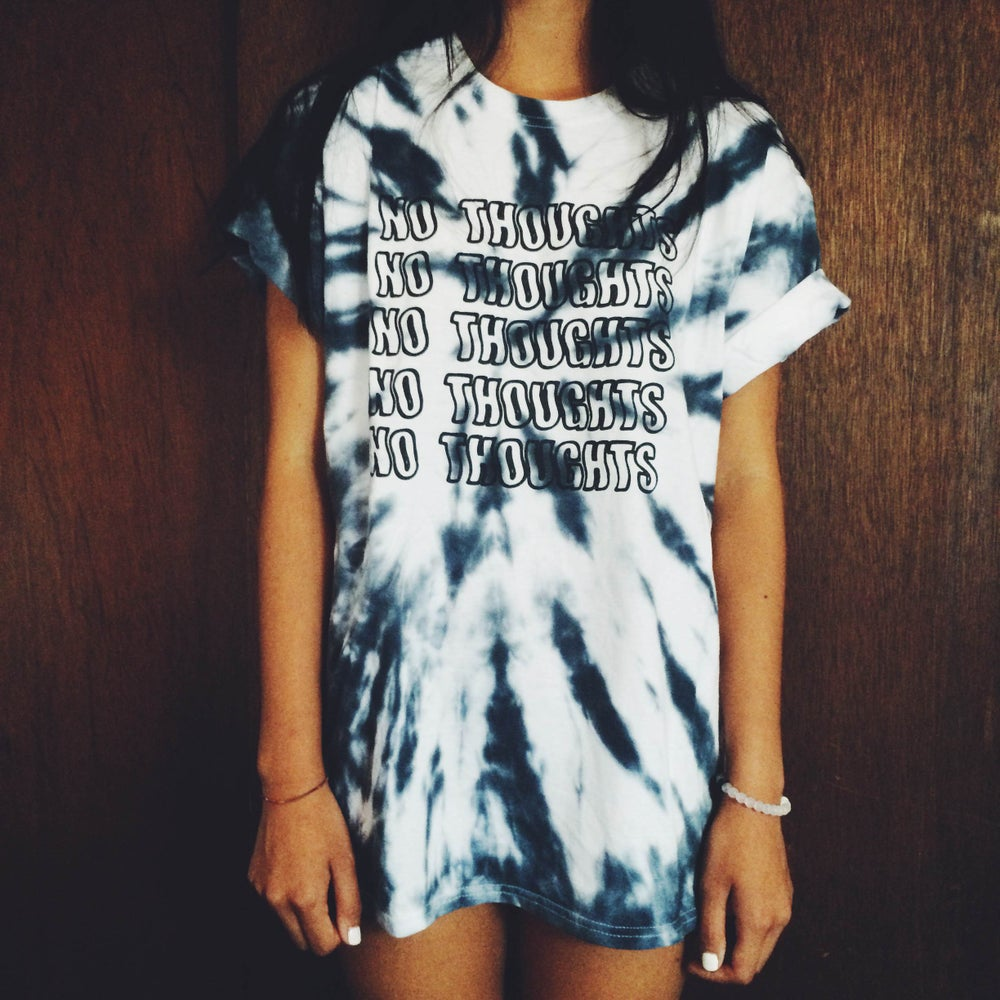 Image of HANDMADE TYE-DYE STAY WAVY T-SHIRT