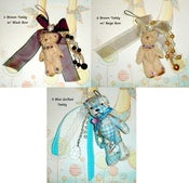 Image of Plush Teddy Bear Cellphone/ Purse Charm