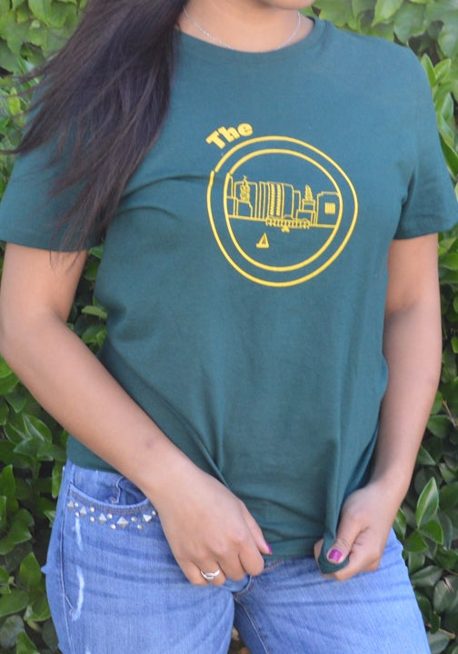 Image of Green & Yellow Women Tee