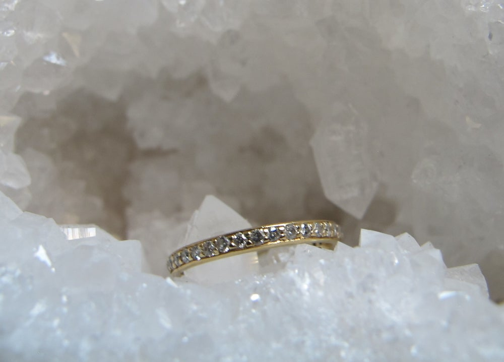 ring bands gold iconery stackable band diamond yellow products pave infinity