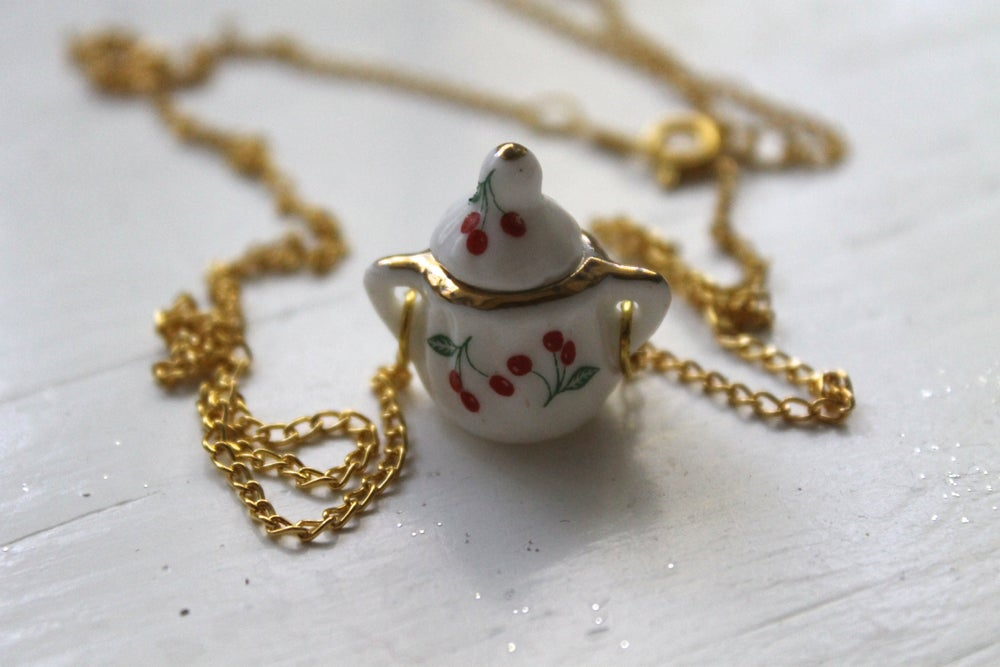 Image of Mini Cherry Sugarpot Necklace (Originally $24)