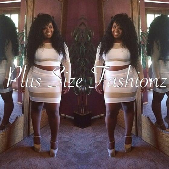 Image of White/Nude Sheer Skirt Set