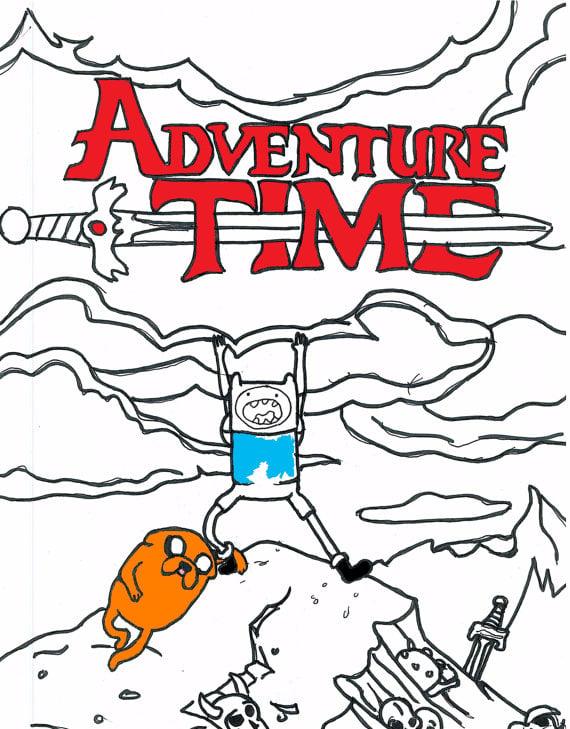 Adventure Time Coloring Book Chantel Weaver