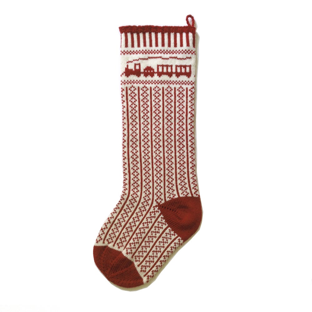 Train Christmas Stocking (two color)