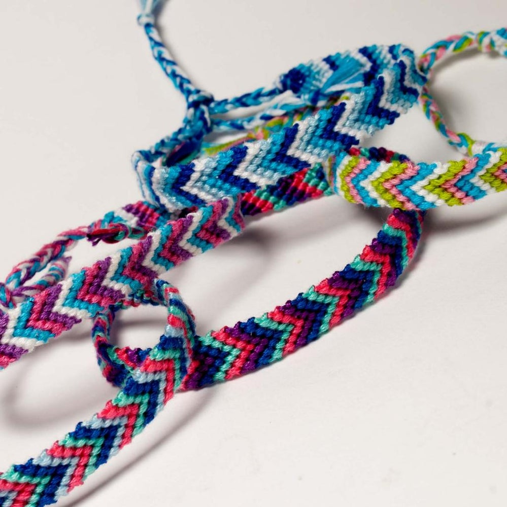Image of Mixed Chevron Friendship Bracelet/Anklet (Choose Any 4 Colours Of your choice!)